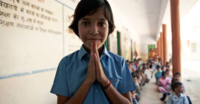 Child showing gratitude in response to Relief Riding Expeditions