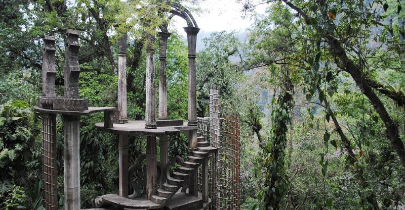 Sculptures at the Las Pozas Rainforest Gardens