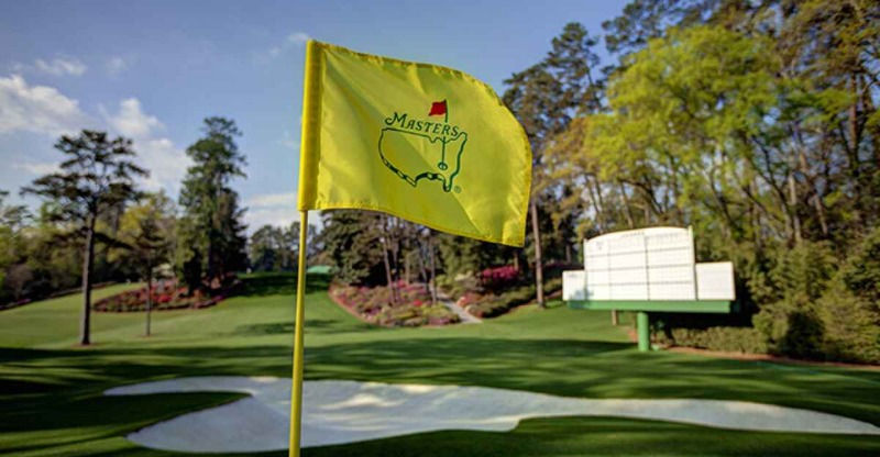 The Masters flag pole