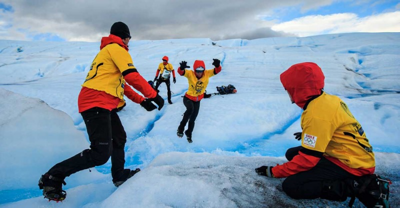 Leaping across frozen landscapes on the Patagonian Expedition Race