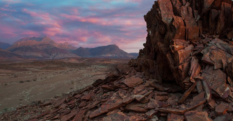 Sunset at Fire Mountain Namibia