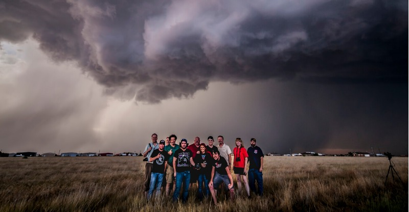 Storm Chasing Tour USA Black clouds above