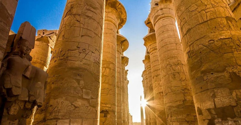 The pillars at the Abu Simbel Sun Festival