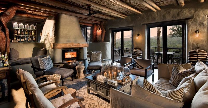 Phinda Rock Lodge luxurious sitting room