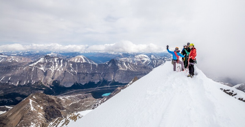 Summiting with Yamnuska mountain adventures