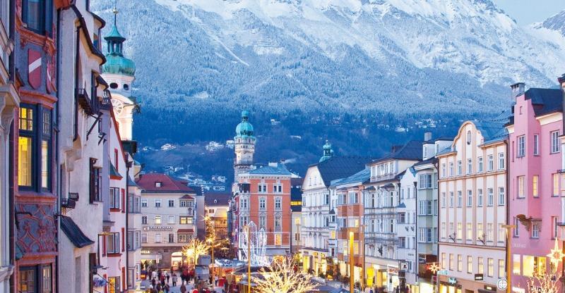 Beautiful mountain town in the Austrian alps