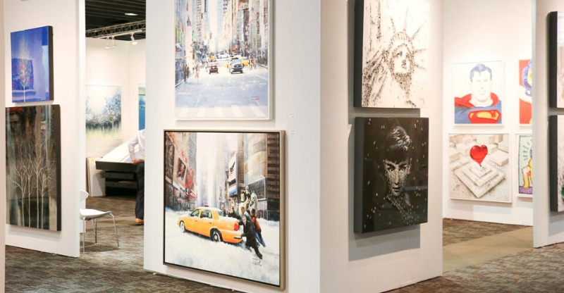 Extravagant artwork at the ArtExpo New York