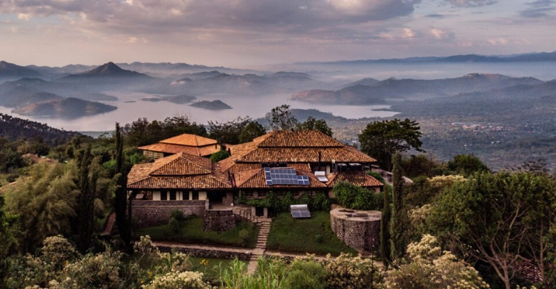 luxury Virunga Lodge in the National park in Rwanda