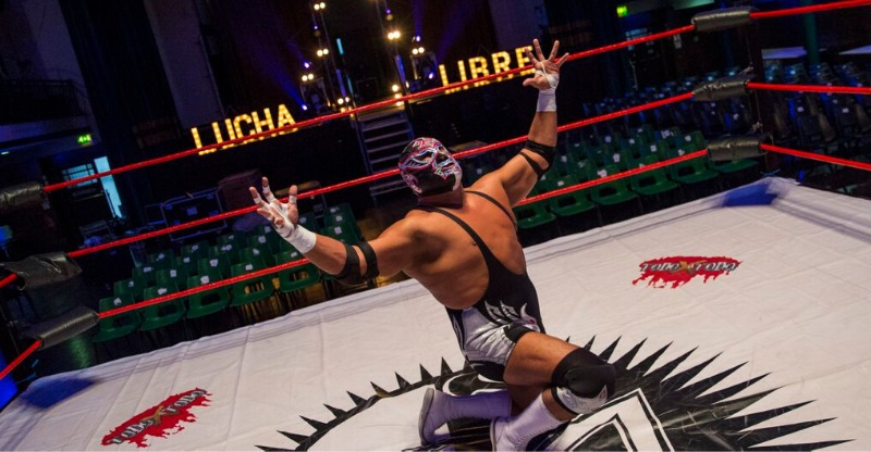 Lucha Libre Mexican Wrestling on stage