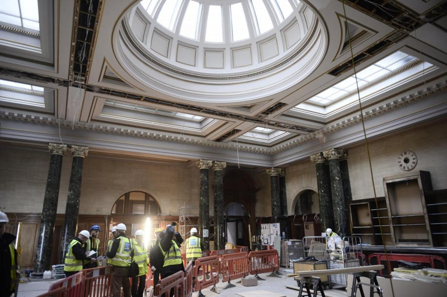 Work on transforming the old Post Office into an upmarket eatery. Herald and Times