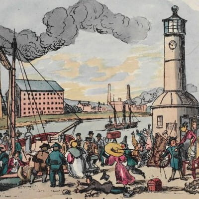 A flash of inspiration (The Broomielaw Lighthouse, as seen in The Glasgow Looking Glass (Glasgow City Archives))
