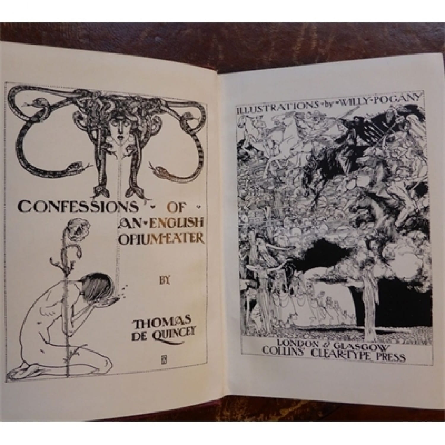 An illustrated copy of his 'Confessions', published by Collins of Glasgow
