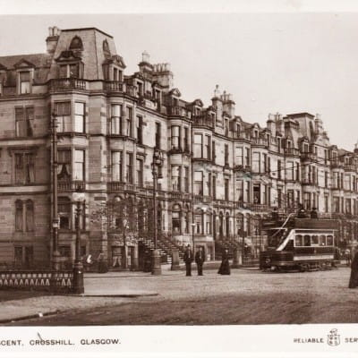 Balmoral was fit for royalty (Balmoral Crescent, in 1909 (postcard))