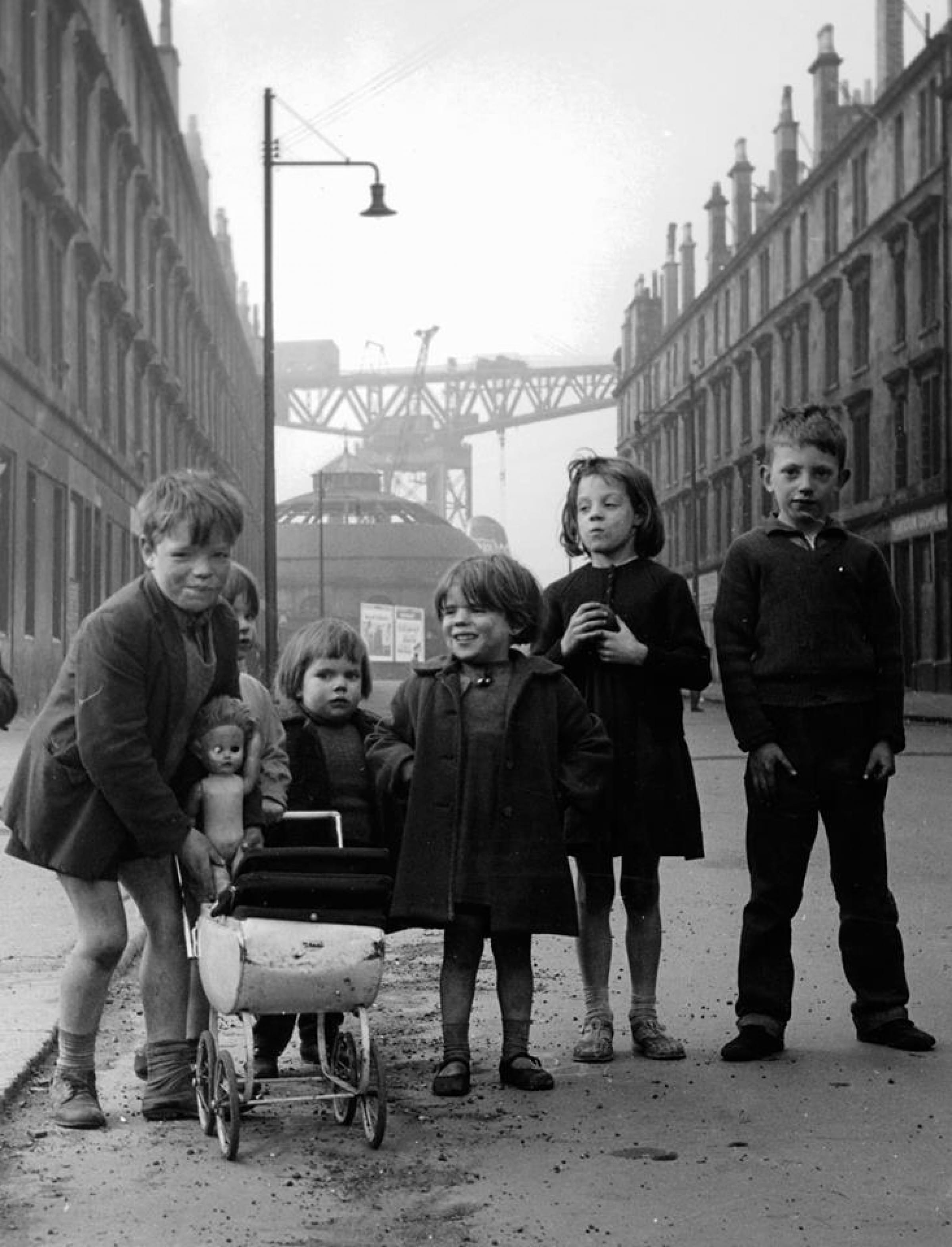 One eye on the past... (The McKenzie clan, Plantation Street, 1965 (Picture: Eric Watt - 1934-2005 - of Queen's Park Camera Club))