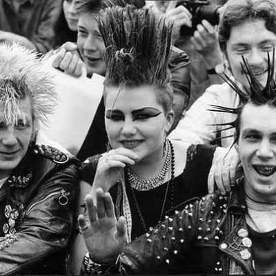 Hair today, gone tomorrow... (Jamie Usher, Lorna Jack, and Barry McCallum, at the 1984 Radio Clyde Rock Festival (Herald and Times Group))