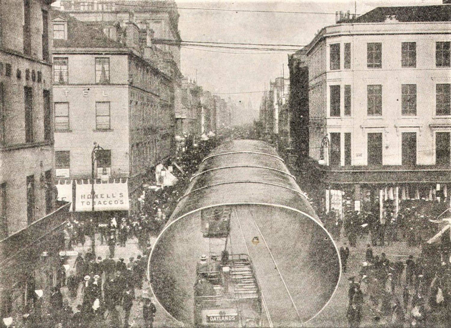 A funnel of the RMS Lusitania in Argyle Street (The World Reader)