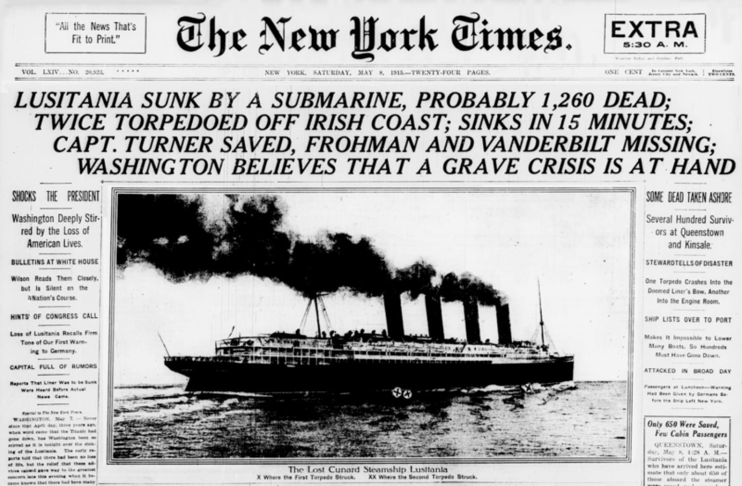 How the New York Times reported the sinking