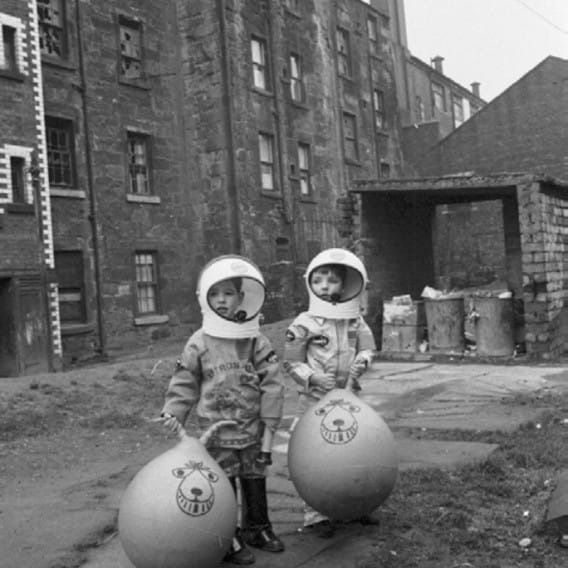 Gorbals space cadets (Space cadets, Crown Street, Gorbals, 1970 (Picture: TSPL))