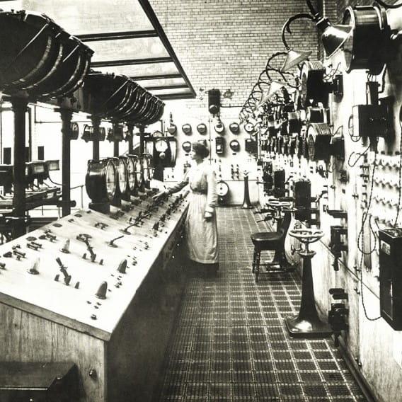 Mission Control - Glasgow (Main Control Room, Pinkston Power Station, 1904 (Glasgow Museums))