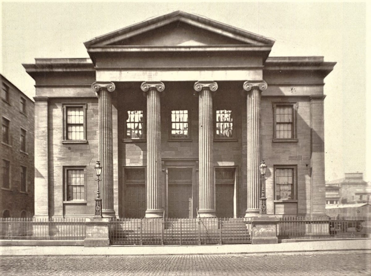 Wellington Church got the boot (Wellington Street UP Church, in 1875 (Glasgow University Library))