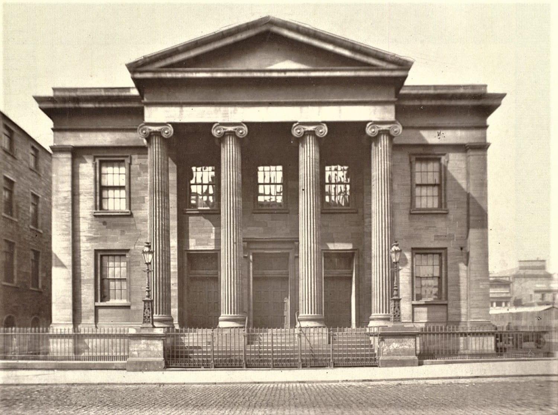 Wellington Street UP Church, in 1875 (Glasgow University Library)