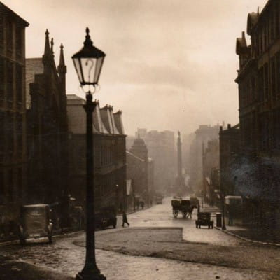 Some day my plinth will come (North Hanover Street, looking toward George Square , by E O Hoppe (1878 - 1972))