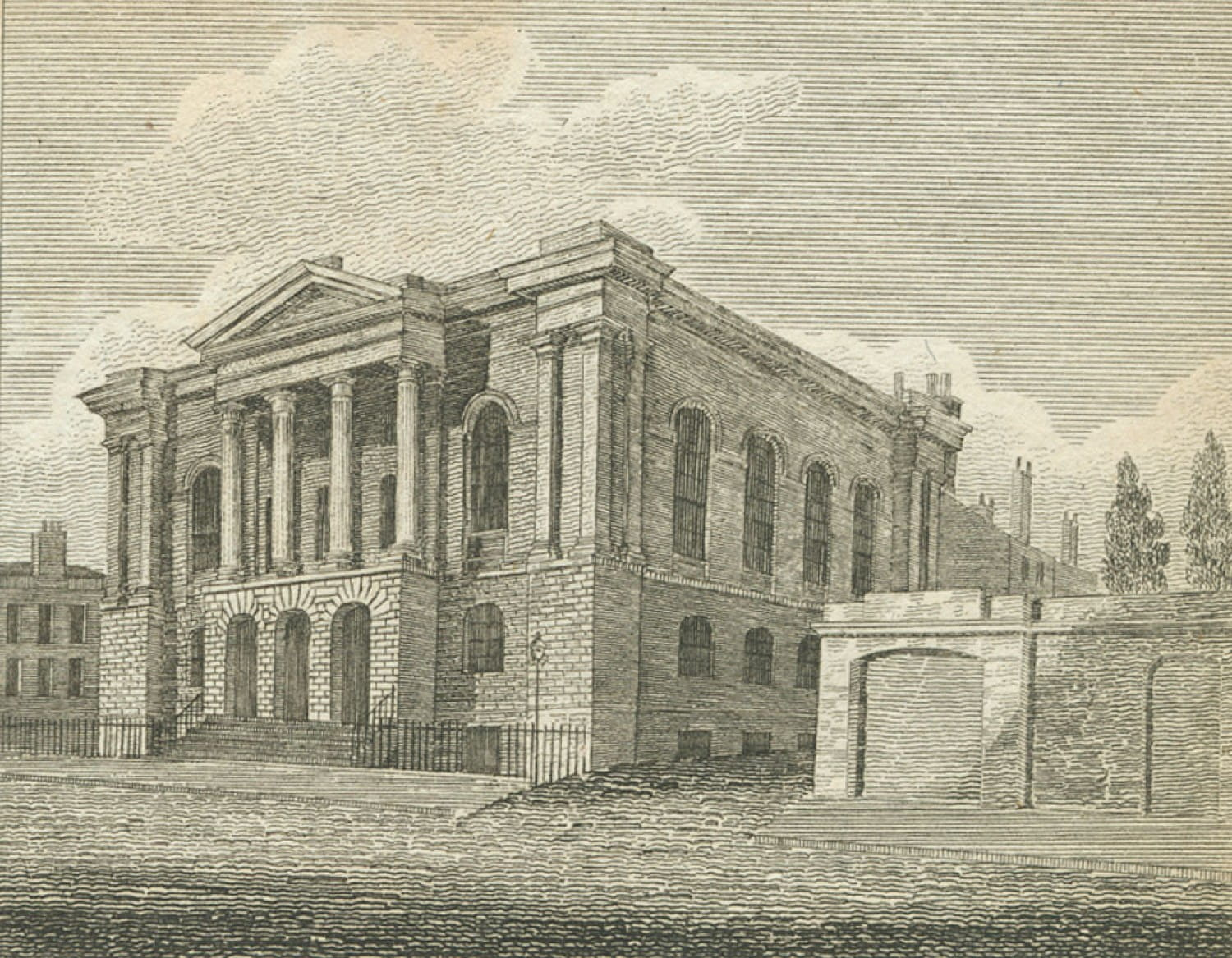 Dr Wardlaw's Chapel. Built in 1819, demolished in 1975 (Glasgow City Council Libraries)