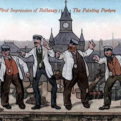 Oh Mr Porter! (The Pointing Porters of Rothesay (Postcard))