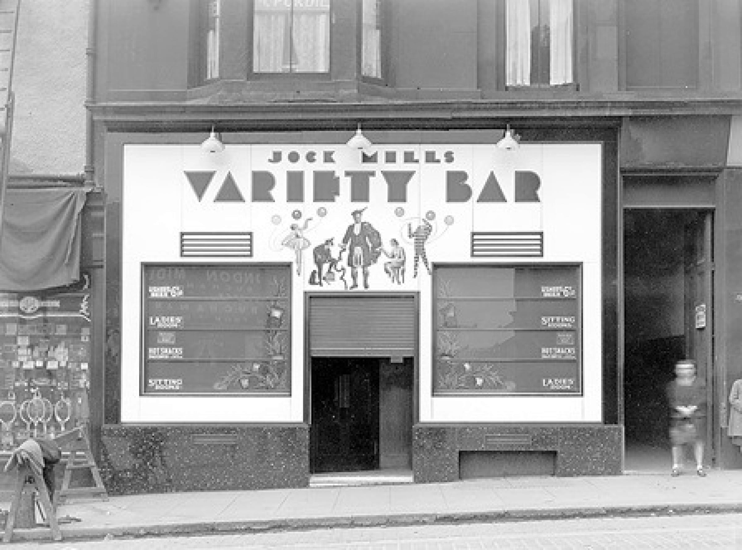 Variety is the spice of life (Jock Mills' Variety Bar, in Cowcaddens Street, in 1938 (Glasgow City Archives))