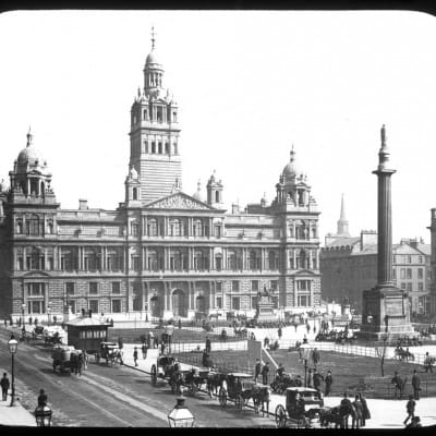 Court in the act! (George Square, pre-1888, by George Washington Wilson)