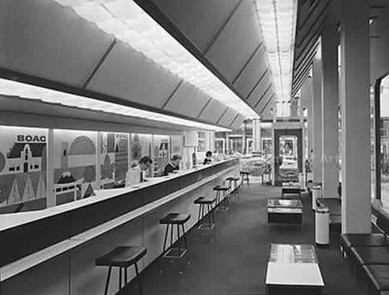 The BOAC interior, 1970 (Glasgow School of Art Archives)