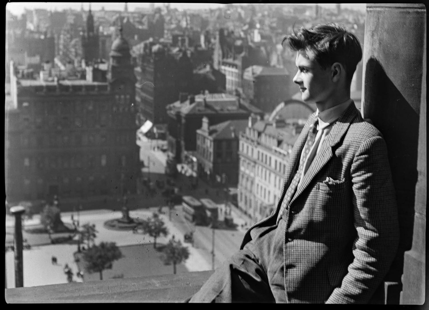 Douglas Graham on the roof of the City Chambers