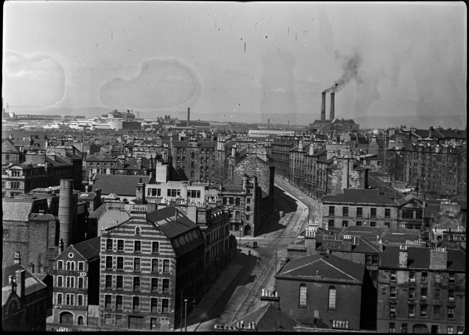 Looking north from the roof of the City Chambers
