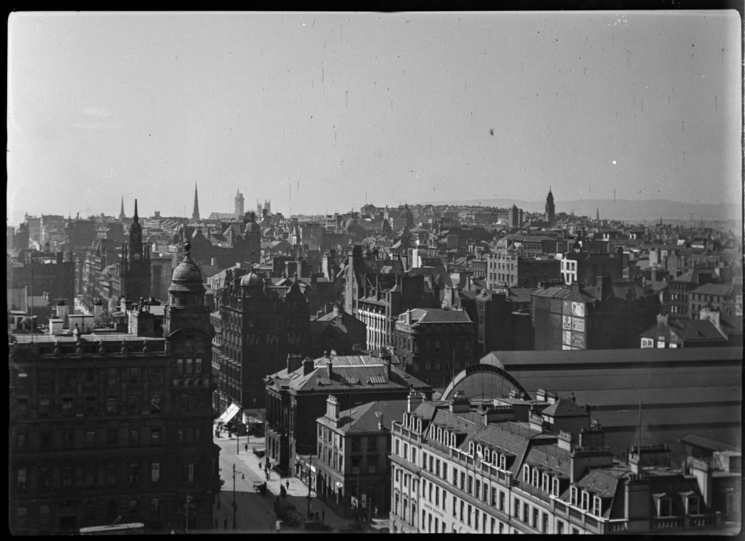 Looking west from the roof of the City Chambers