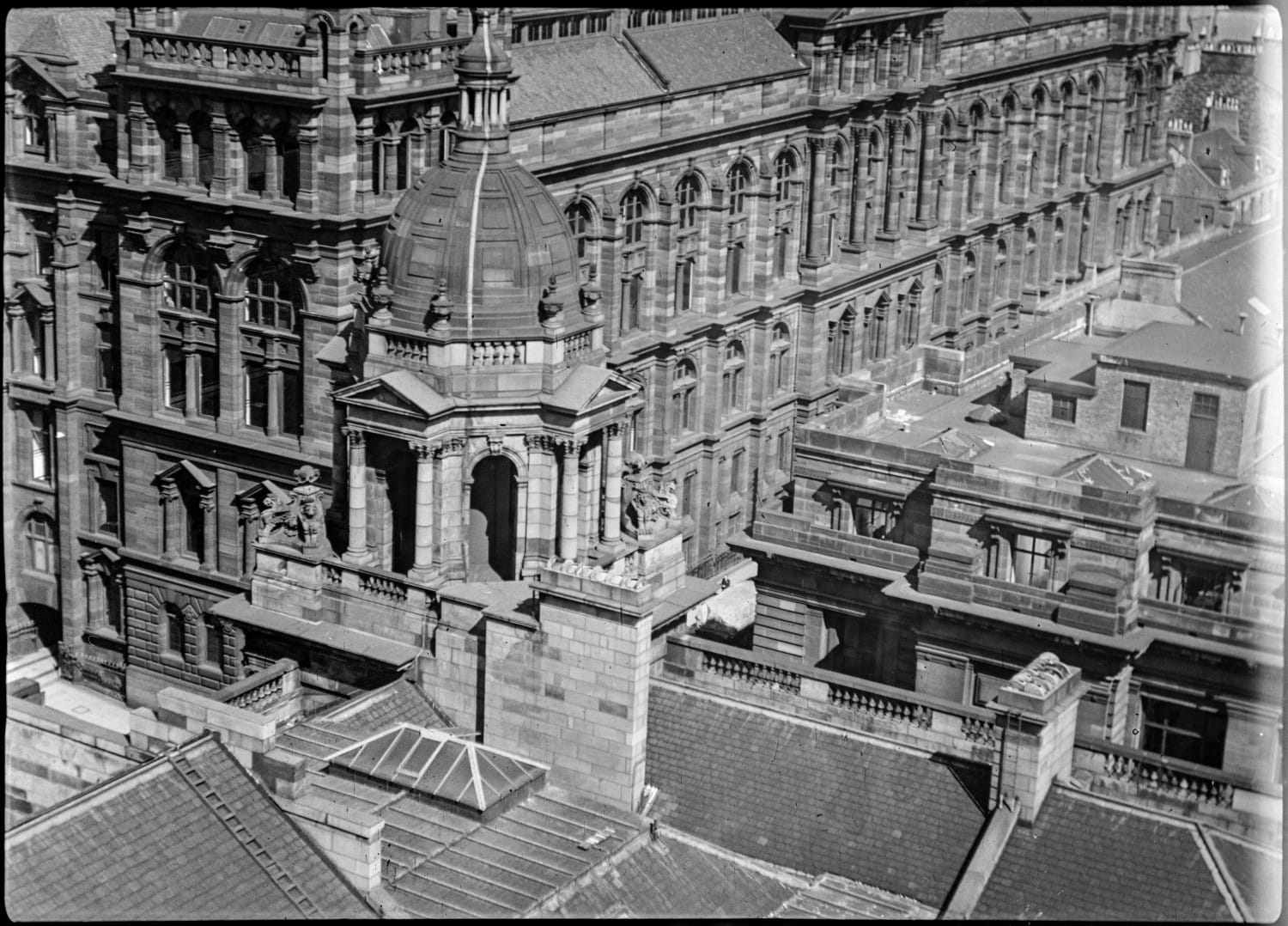 Looking down on the old Technical College in George Street