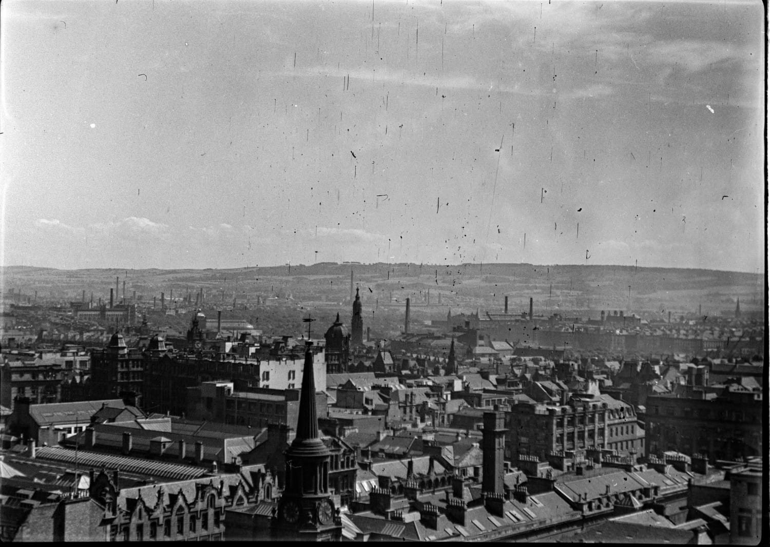 Looking south towards the Cathkin Braes.