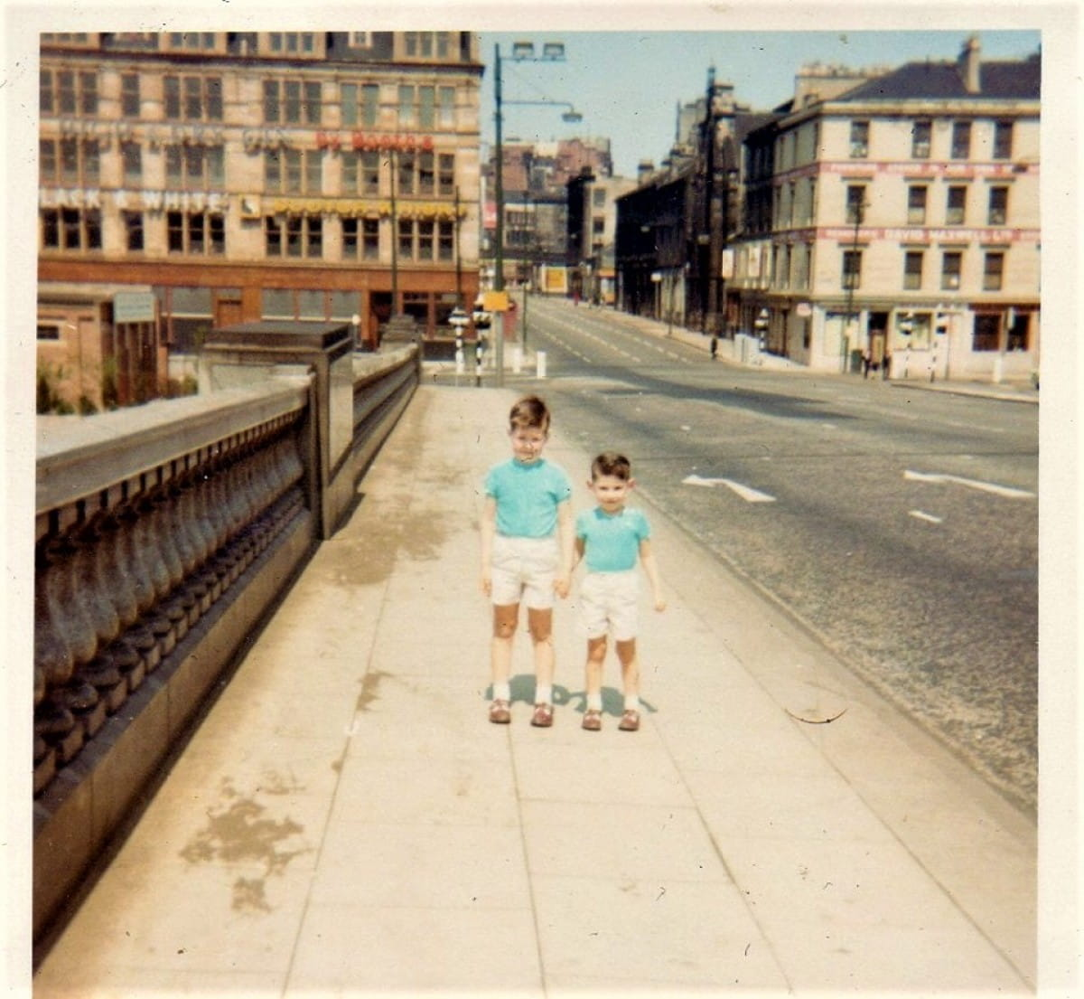The boys on the bridge (Andy Macleod, right, and his older brother on George V Bridge, 1967)