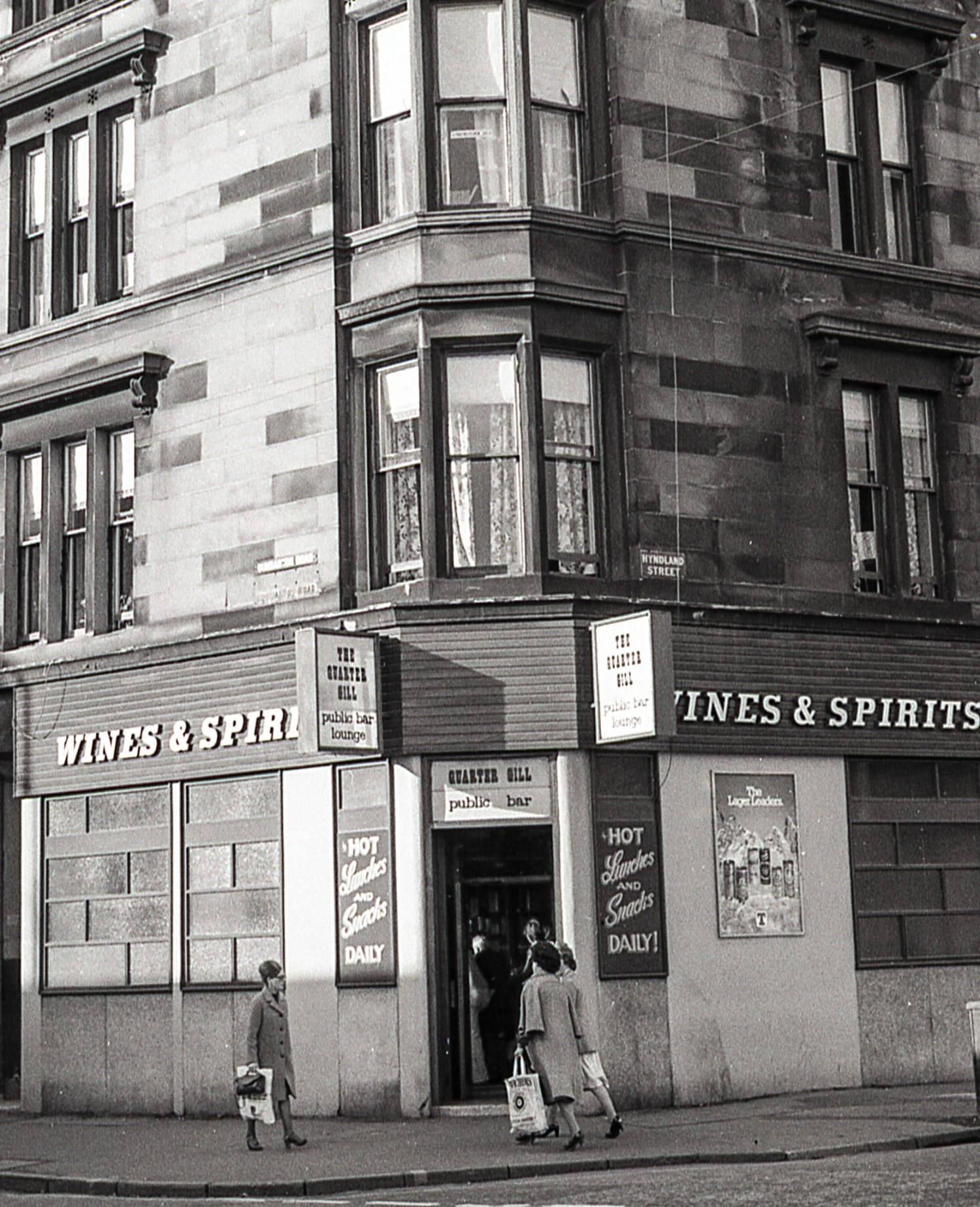 The Quarter Gill pub, on the corner of Dumbarton Road and Hyndland Street