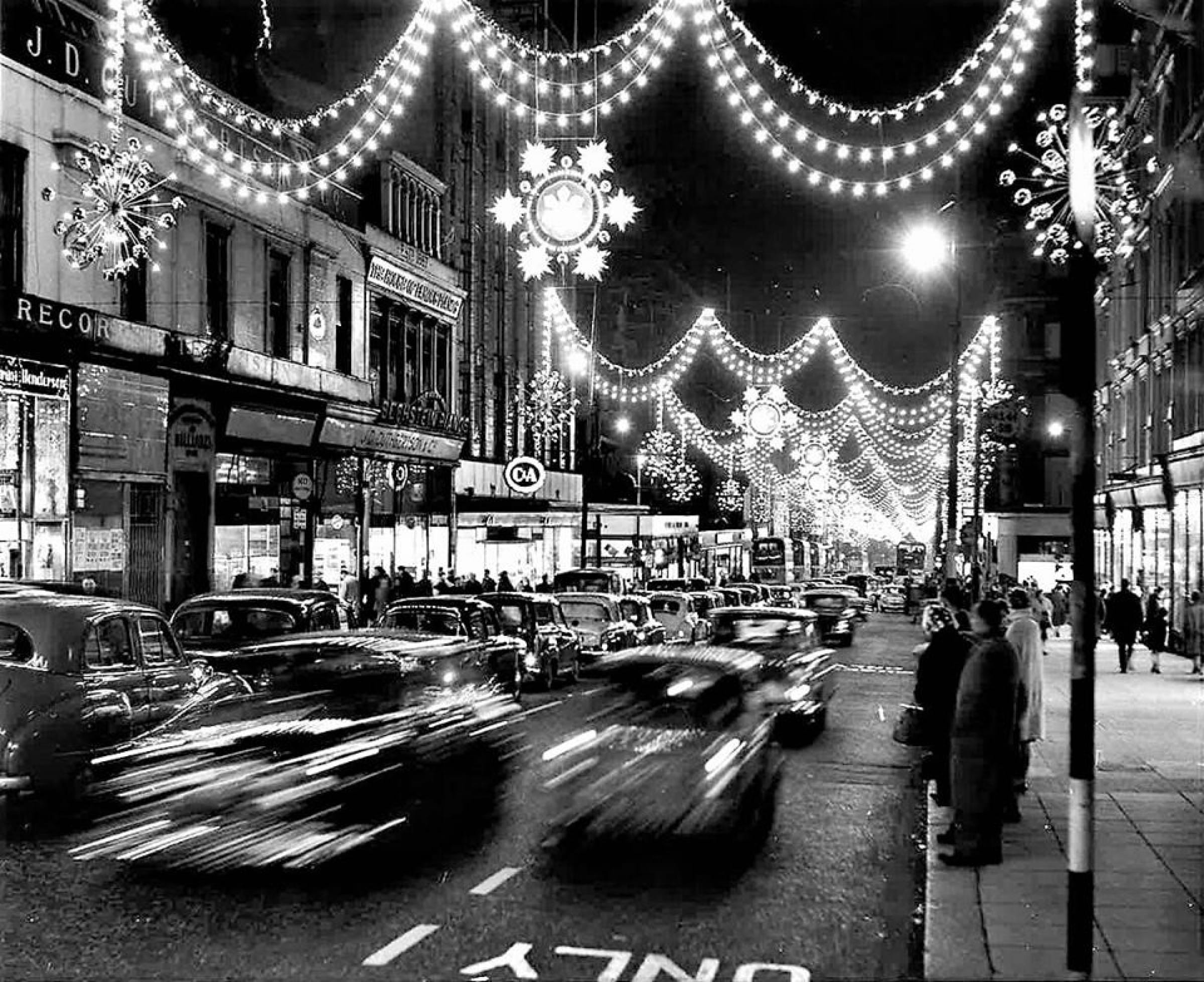 Let there be light! (Sauchiehall Street, December 1962 (Newsquest Media Group))