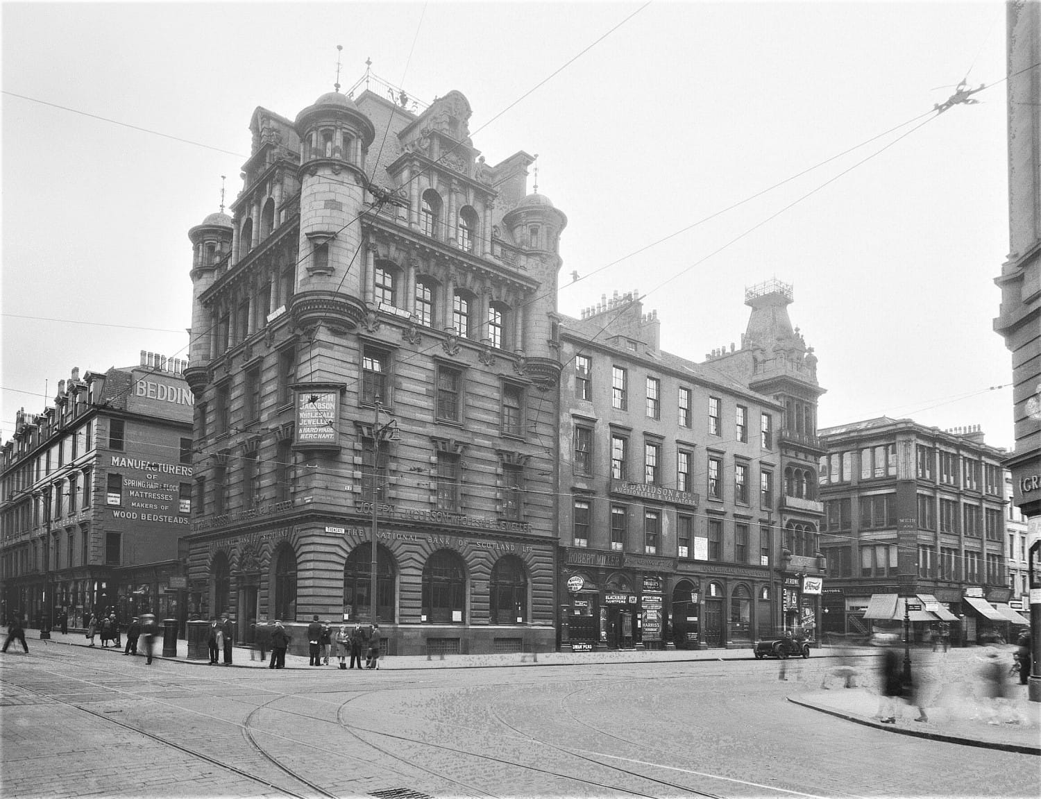 Trongate and Glassford Street in 1930 (Glasgow City Archives)