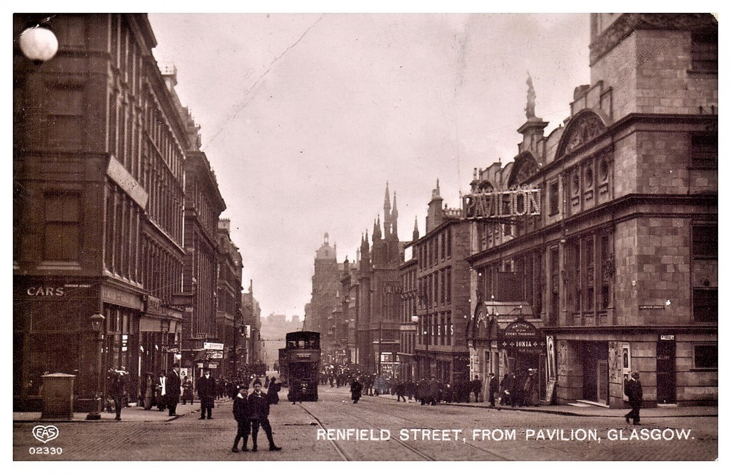 It's all downhill from here... (Renfield Street, from Renfrew Street, circa 1912 (Postcard))