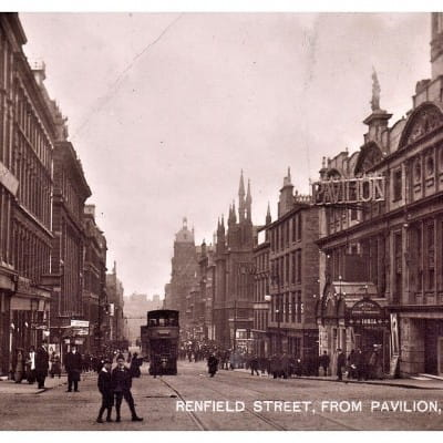 It's all downhill from here... (Renfield Street, from Renfrew Street, circa 1912 (Postcard))