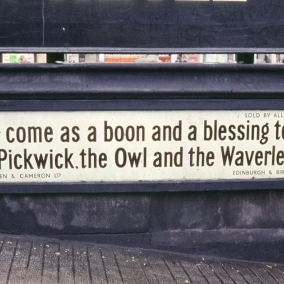 His nibs had a point (The MacNiven & Cameron pen advert outside St Enoch Station, 1968 (Flickr))
