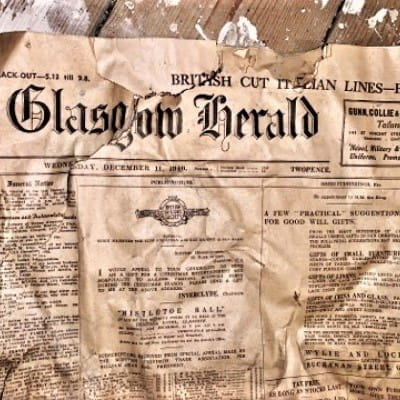 Hitting the headlines (The Glasgow Herald - dated Wednesday December 11, 1940.)