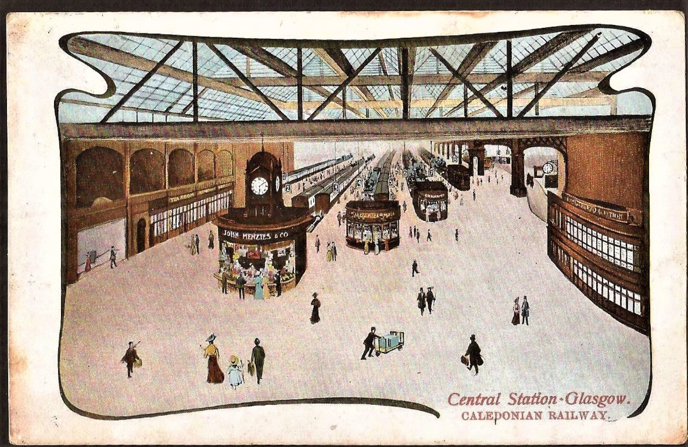 The quiet before the storm (Postcard view of Central Station, 1908)
