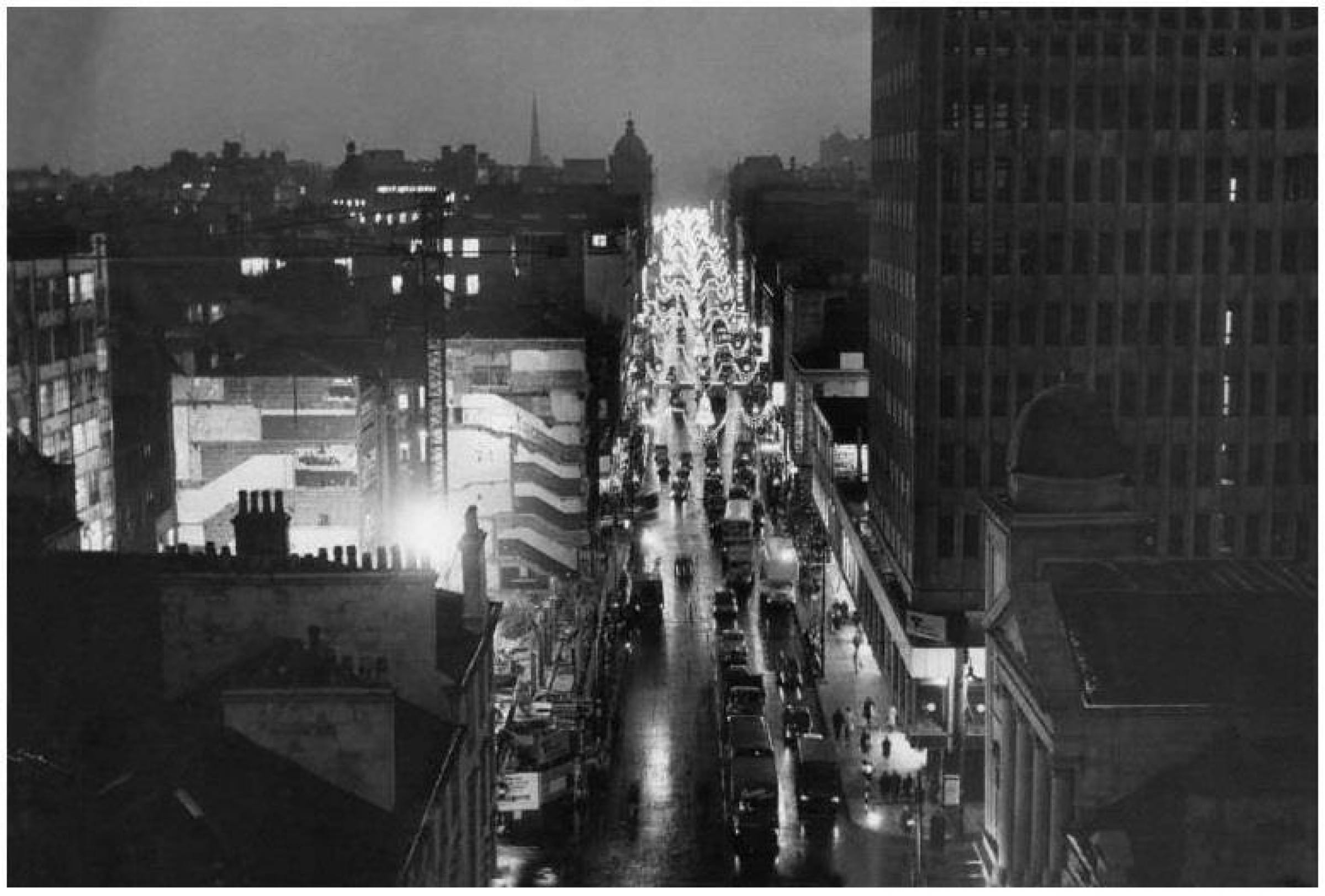 Let there be lights (Sauchiehall Street, looking west, Christmas 1963)
