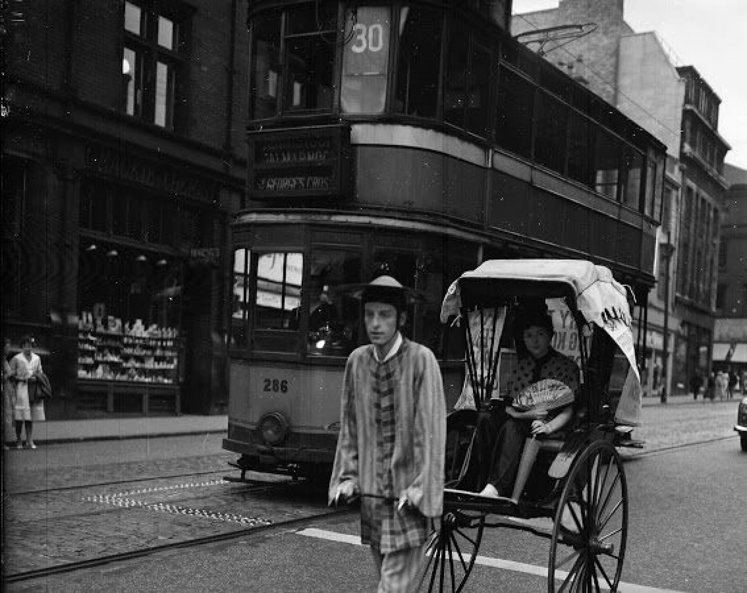 Pulling power (Publicity stunt for the 1959 film, Ferry to Hong Kong, Renfied Street (Picture: TSPL))