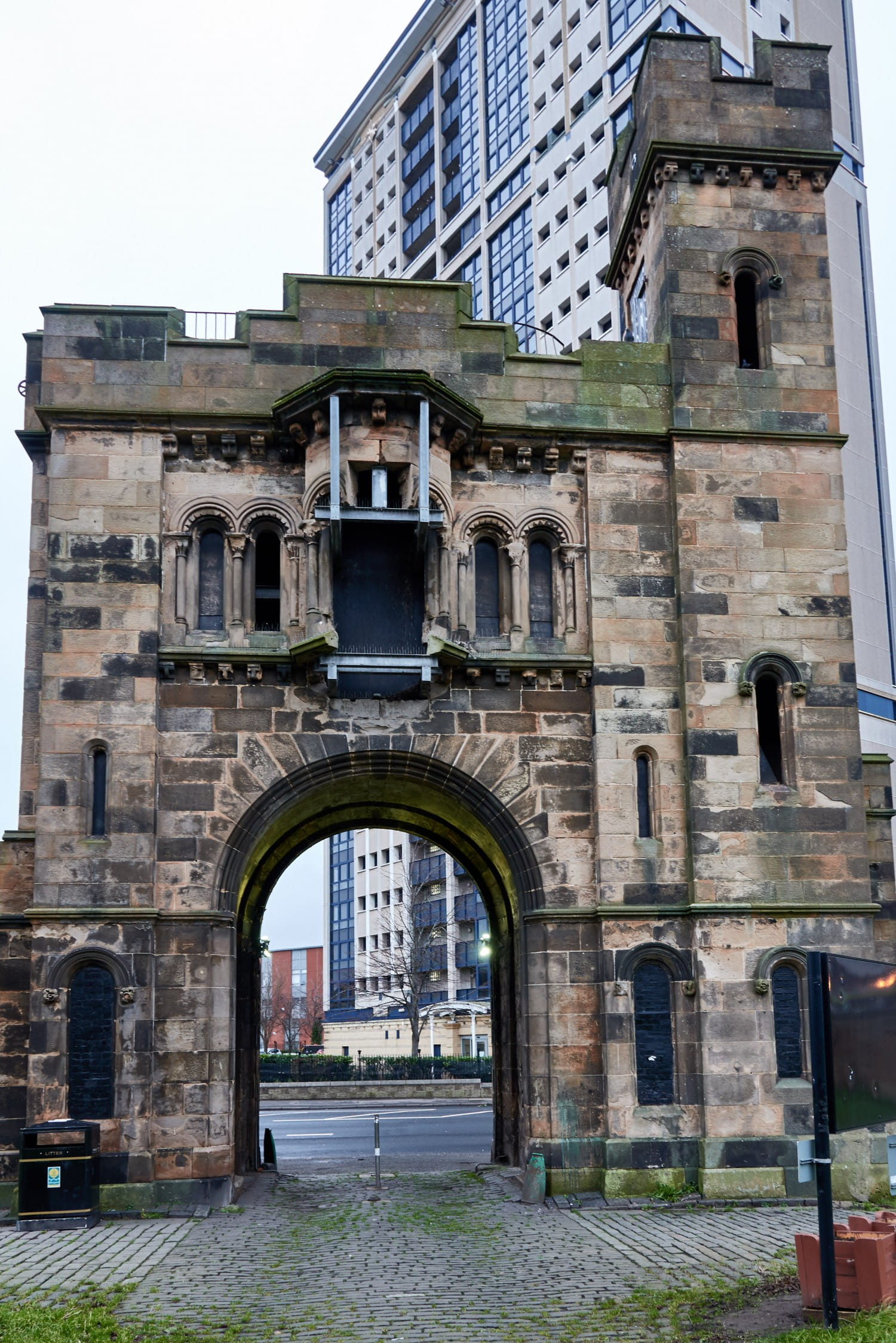 Gothic gatehouse n Caledonia Road. Pictures: Bill Mackintosh