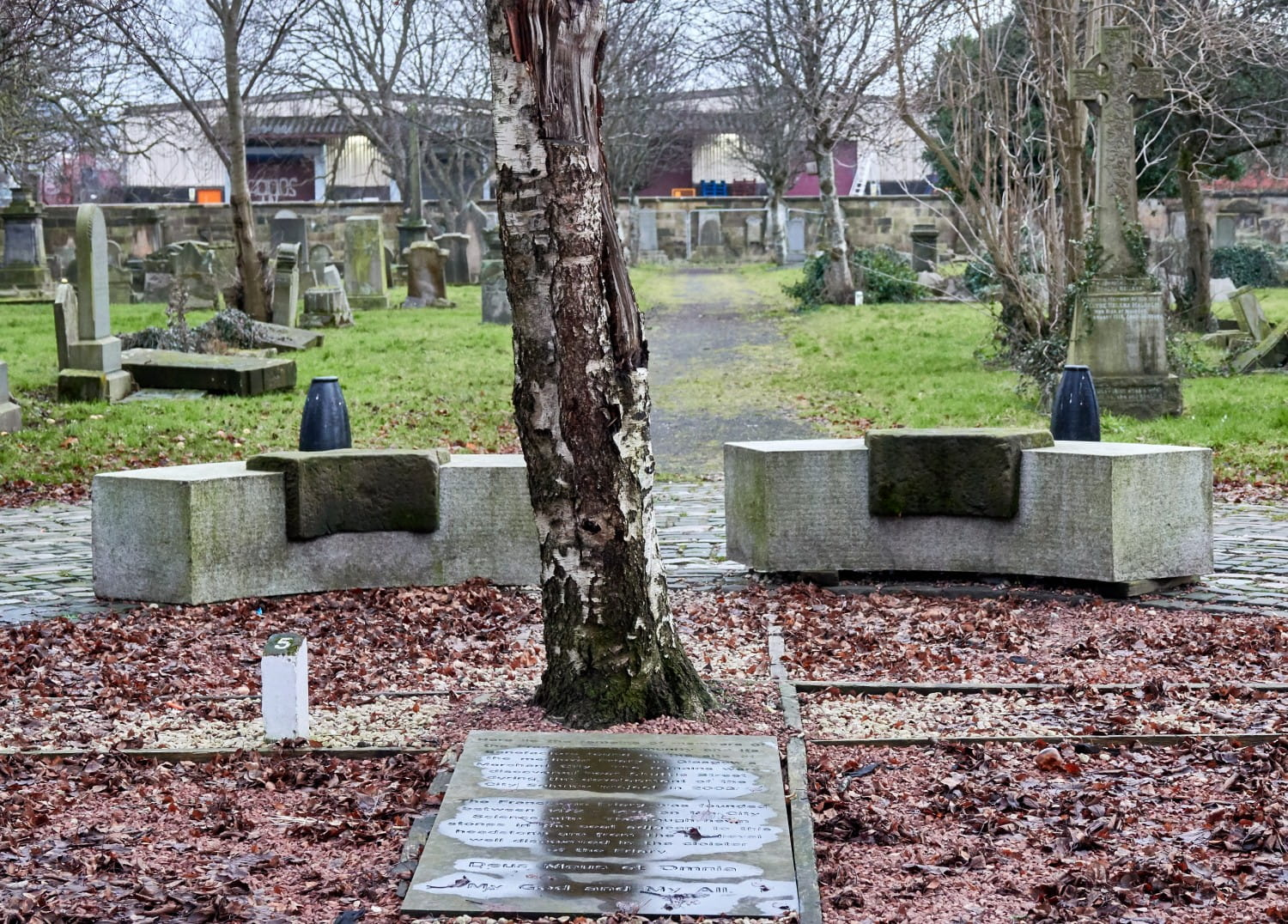 The memorial to remains of 20 followers of St Francis of Assisi. Picture Bill Mackintosh
