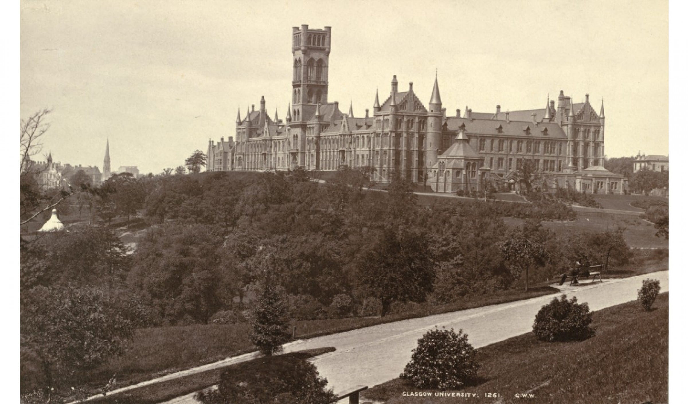 Something to aspire to (Glasgow University, by George Washington Wilson C. 1885)